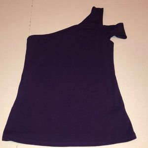 Express one shoulder purple top